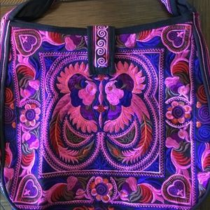 Handbags - NWOT Johnny Was Style Embroidered Bag